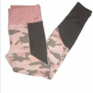 Justice Pink and Gray Camo Pants